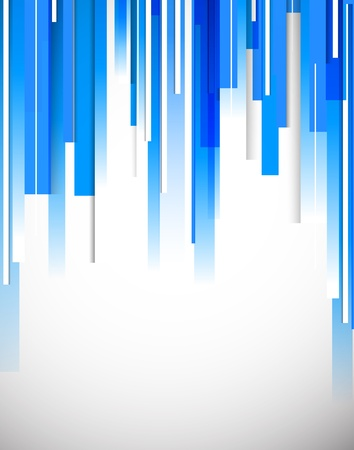 straight lines: Bright blue tech background. Abstract colorful illustration