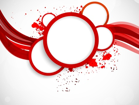 abstract red: Background with red circles  Abstract colorful background
