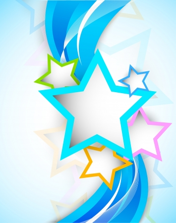 birthday backdrop: Bright colorful background with stars