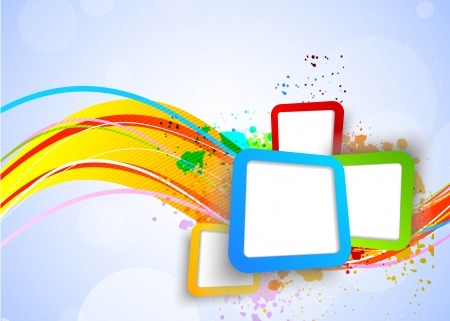 color effect: Colorful background with squares  Abstract bright background