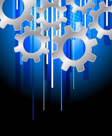 Background with gears. Abstract blue tech illustration Stock Vector - 15701838