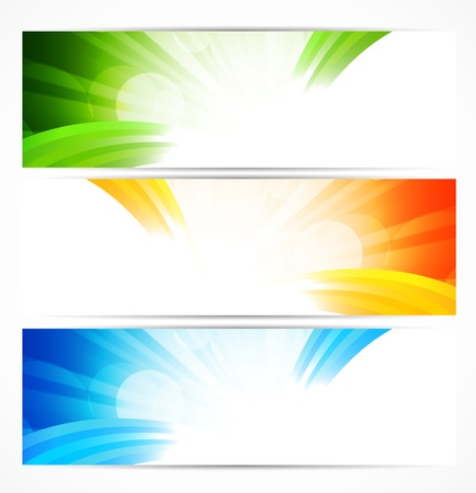 Set of bright banners  Abstract illustration