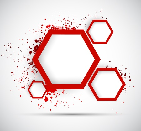 hexagon background: Background with hexagons  Abstract illustration Illustration