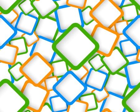 fondo geometrico: Patr�n sin fisuras con cuadrados de colores Ilustraci�n abstracta