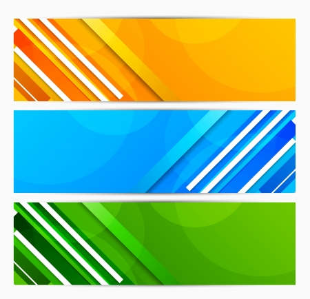 Set of banners with lines  Abstract illustration Stock Vector - 15813230