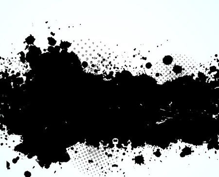 ink spot: Abstract grunge background with circles
