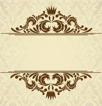 retro background: Background with damask pattern  Abstract illustration Illustration