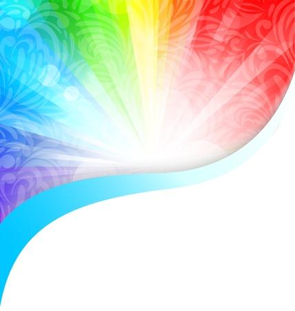 arcobaleno astratto: Sfondo colorato con illustrazione floreale astratto modello Vettoriali