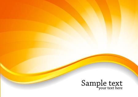 Remous abstrait arrière-plan brillant de couleur orange Vecteurs