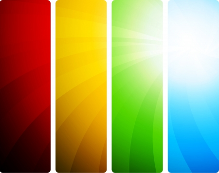 Bright set of banners; clip-art Vector
