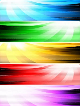 abstract style banners Vector