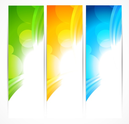 Set of bright banners. Abstract colorful illustration Stock Vector - 15998649