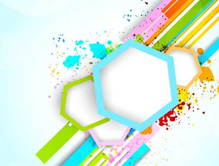 rainbow stripe: Abstract background with colorful hexagons. Bright illustration