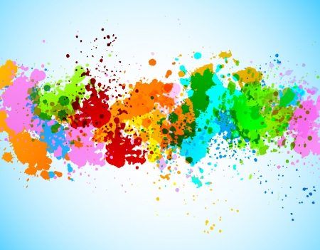 graffiti art: Abstract grunge background. Colorful illustration