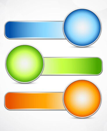 Set of banners with circles. Abstract illustration Stock Vector - 15998728