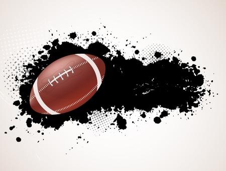 banni�re football: Grunge background avec le ballon. Sport illustration