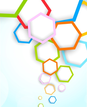colrful: Background with hexagons  Abstract illustration Illustration