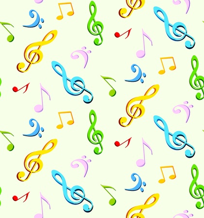 g clef: Music seamless backgroun  Abstract illustration