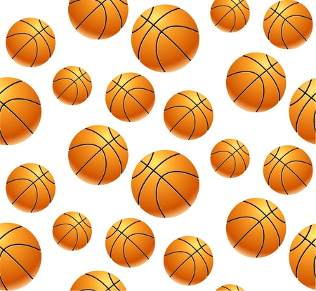 Seamless pattern with basket balls Stock Vector - 17159036