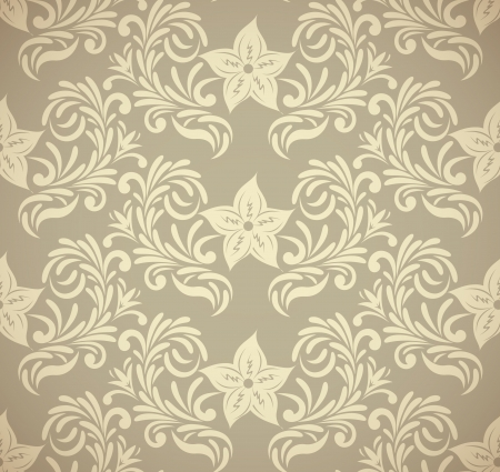 Seamless vintage pattern with flowers Vector