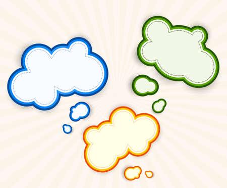 Set of colorful speech bubbles  Abstract illustration Vector