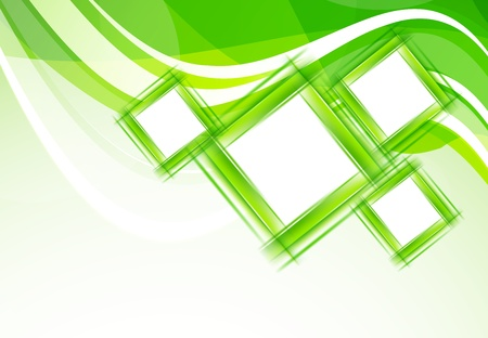 Green background with squares Abstract illustration