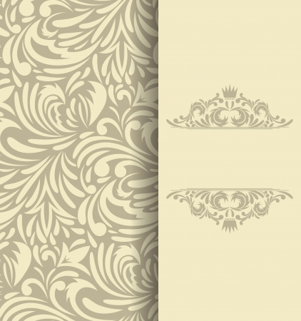Background with floral pattern  Invitation card Vector