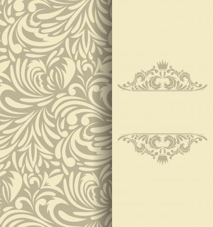 elegant background: Background with floral pattern  Invitation card Illustration