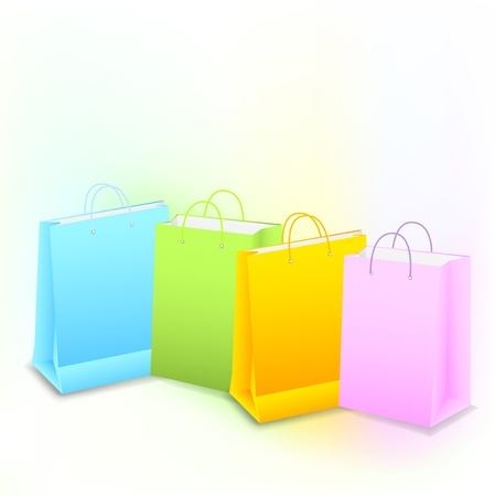 Background with colorful shopping bags Stock Vector - 17343810