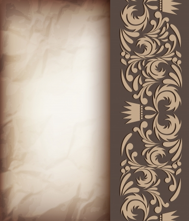 royal wedding: Vintage background with abstract pattern Illustration