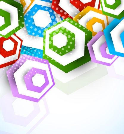 Abstract background with hexagons  Colorful illustration Stock Vector - 17343889