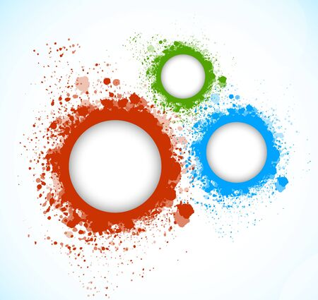 circle frame: Background with grunge circles  Abstract illustration