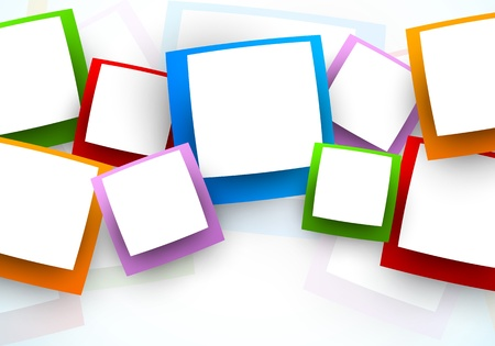 digital art: Background with squares  Abstract illustration