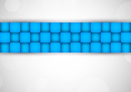 Background with blue squares  Abstract illustration Stock Vector - 17661792