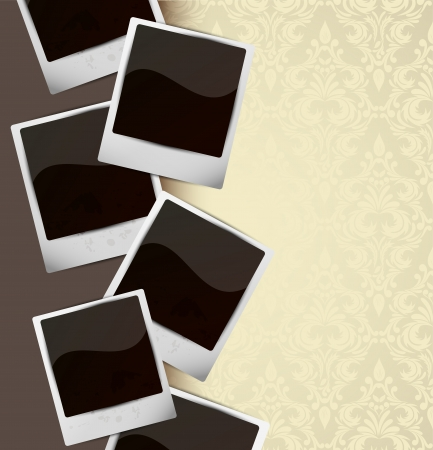 photo card: Background with photo frames  Abstract illustration Illustration