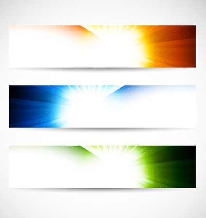Set of shiny banners  Abstract illustration Stock Vector - 17661838
