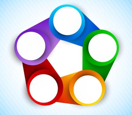 graficos de barras: C�rculos diagrama colorido arco iris ilustraci�n