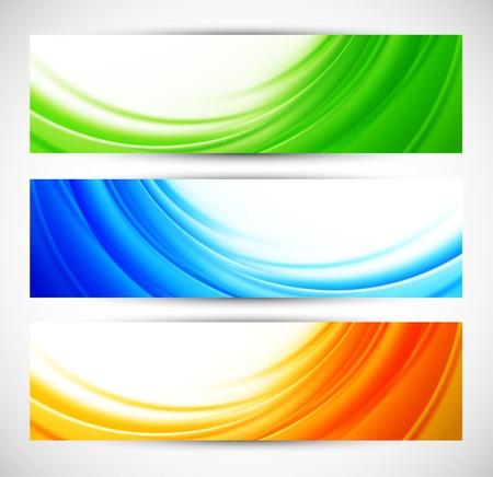 Set of abstract banners  Colorful illustration Stock Vector - 17661787