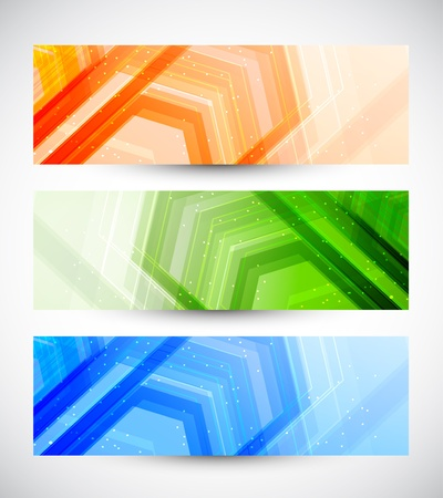 corporate vision: Set of banners  Abstract illustration