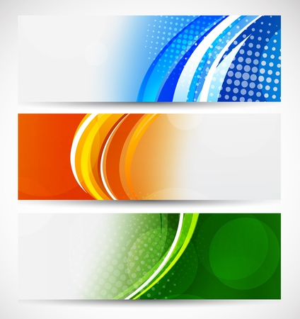 Set of bright banners  Abstract illustration Stock Vector - 17661847