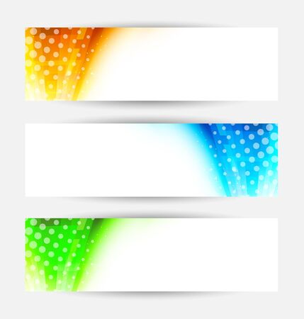Set of abstract banners  Colorful illustration Stock Vector - 17661798