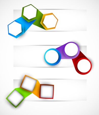 Set of banner with geometrical elements Stock Vector - 17661795