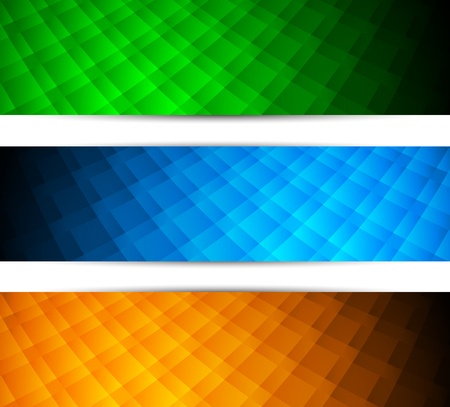 Set of tech banners. Abstract illustration Stock Vector - 17661854