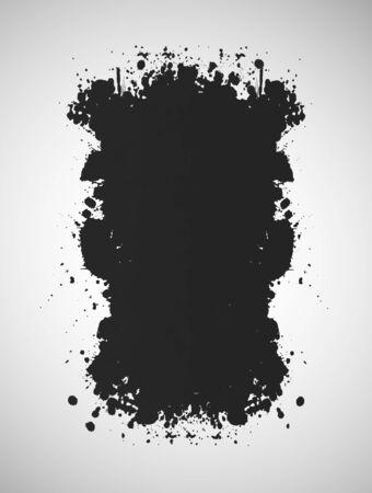 grunge background: Grunge background with  black ink  Abstract illustration