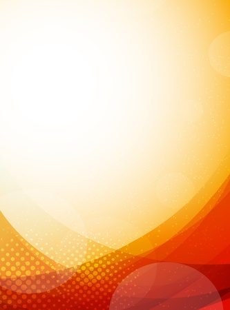 Bright orange background  Abstract colorful illustration with circles Vector