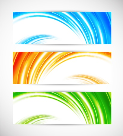 Collection of bright banners  Abstract colorful set Stock Vector - 17661919