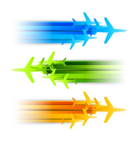 Set of banners with airplanes  Abstract illustration Stock Vector - 17661879