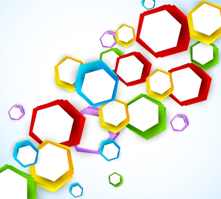 cool background: Colorful background with hexagons. Abstract shiny illustraiton