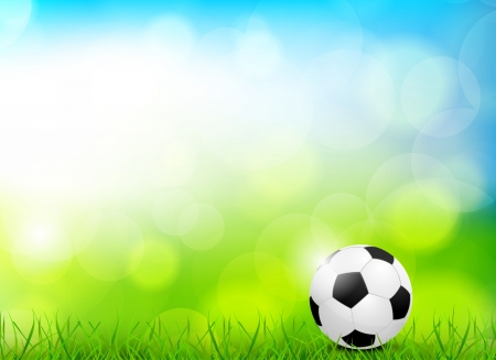 soccer grass: Background with soccer ball  Abstract bright illustration