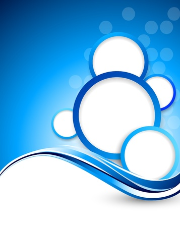 Bright blue background with circles  Abstract illustration Vector